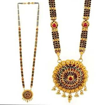 Several stones mangalsutra