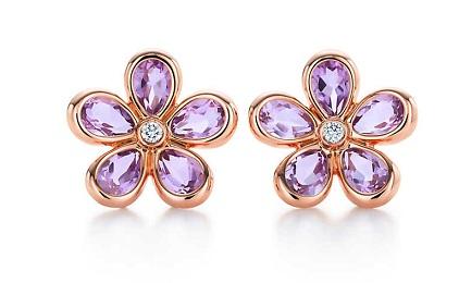 Shiny Flower Earring