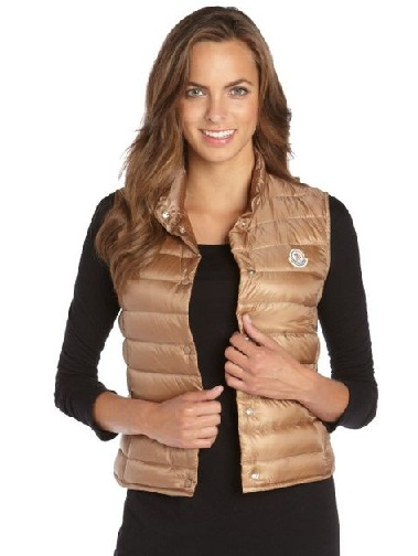 Shiny Quilted Outdoor Vests for women