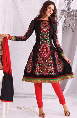 Short Anarkali With Salwar