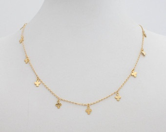 Short Simple 18k Gold Chain