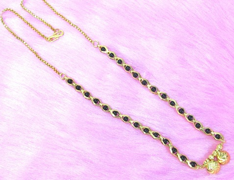 Short new fashioned mangalsutra necklace