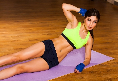 Side Planks for reduce waist fat