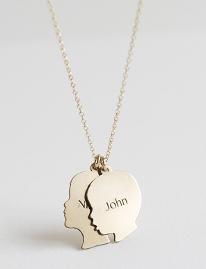 Silhouette charm necklace