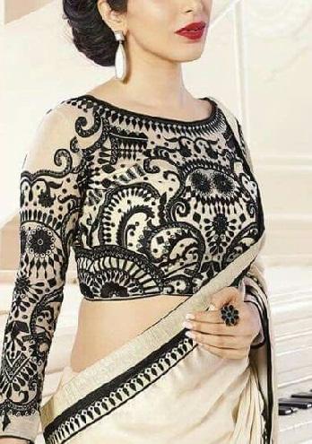 Silk Saree Blouse with Resham work -27