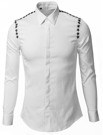 Silk white shirt