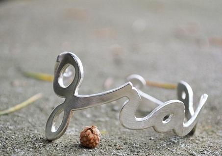 Silver Name Custom Bracelet
