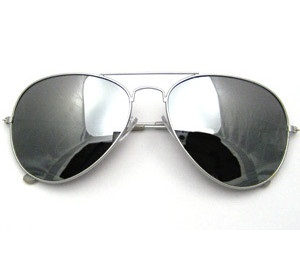 Silver Reflective Sunglasses for Men