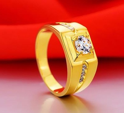 Silver Ring in Gold Plated