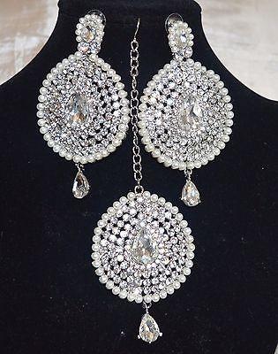 Silver Tone MaangTikka and Earring Sets