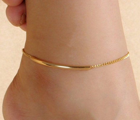 Simple Gold Anklet for Women
