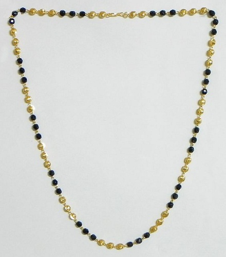 Simple Gold Chain with Beads
