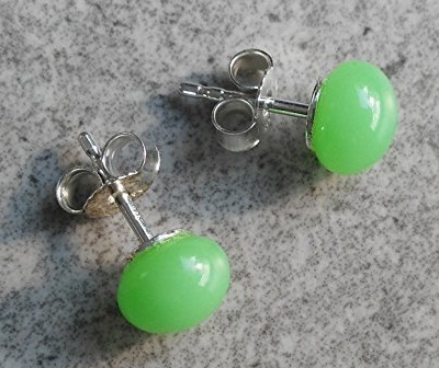Simple Green Stud Earring