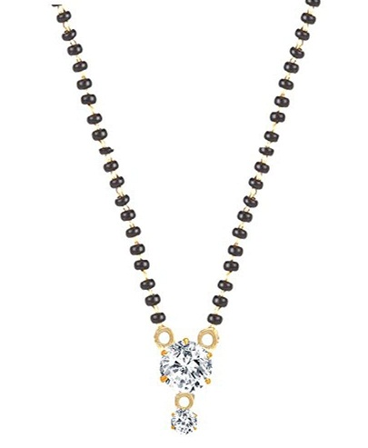 Simple Mangalsutra with Diamond Pendant