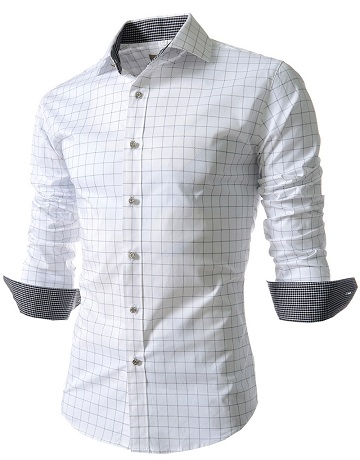 Simple formal white shirt