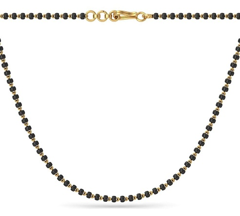 Single line mangalsutra chain