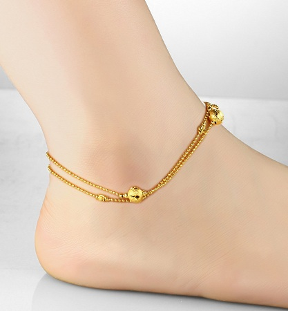 products layered delicate babee tassel design anklet for women womens rhinestone