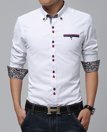 Sleeve design white shirt