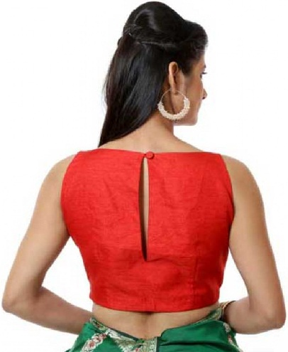 Slitted back neck Blouse -46