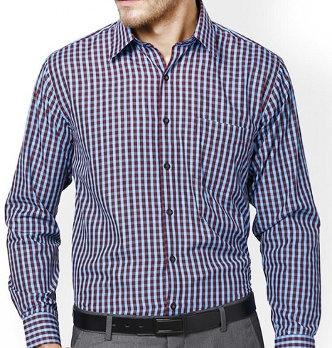 Small checks design formal shirt