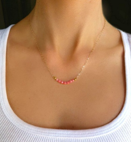Small coral necklaces