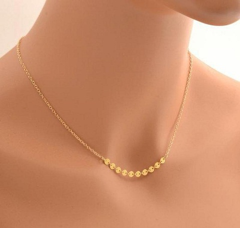 Small gold necklaces