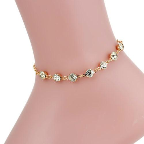 bead free diamond essentials sterling anklet watches silver inch jewelry product chain cut mm