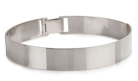 Solid band choker in silver