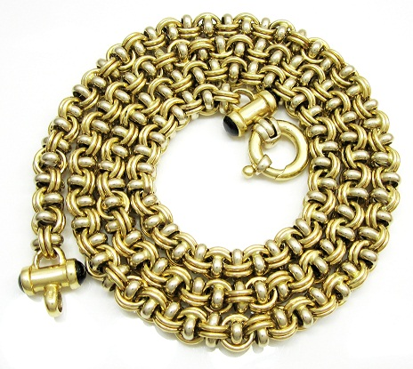 Solid two tone gold italina chain