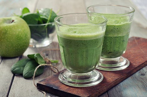 Spinach and Coconut Blend for Colon Cleansing