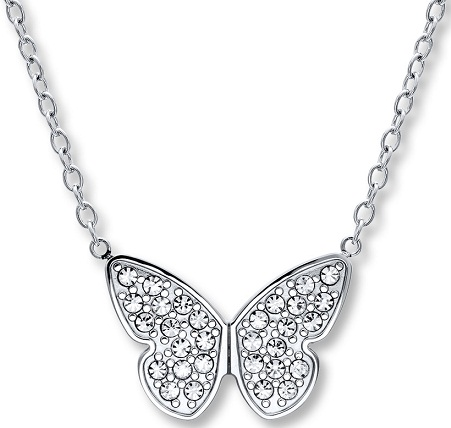 Stainless Steel Butterfly Necklace5