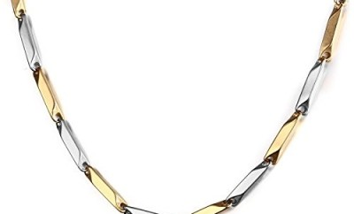 Stainless steel silver gold choker