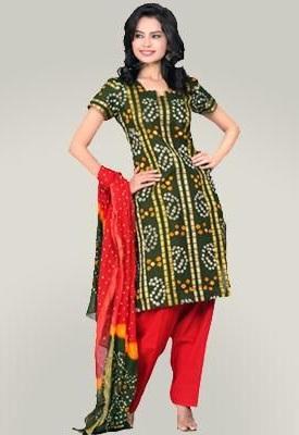 Stitched Bandhani Salwar Suit