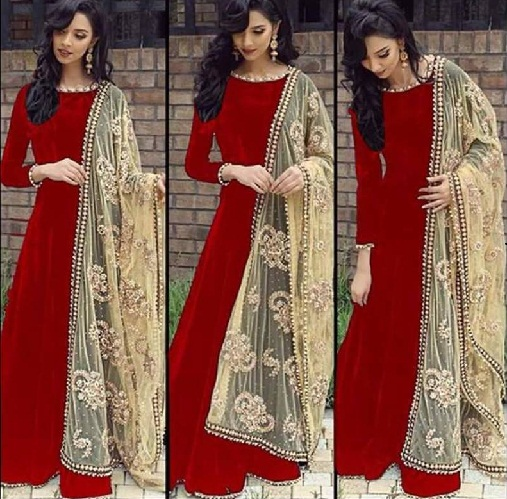 Stitched Silk Salwar Suit