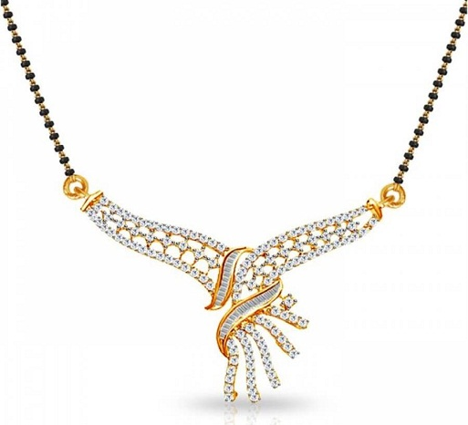 Stone designed long mangalsutra