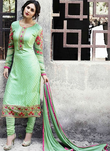 Straight Fit Fancy Salwar Suit