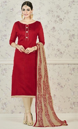 Straight Suit with Churidar -2