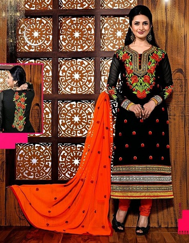 Straight Suit with Resham Work