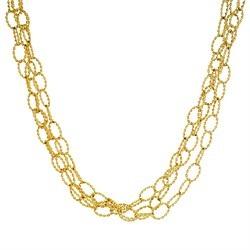 Stranded link Italian gold chain