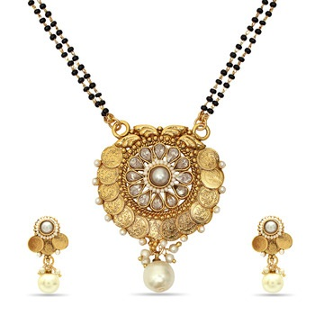 Studded Gold Platted Mangalsutra