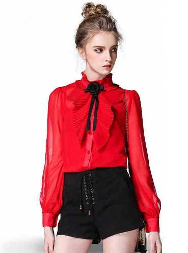 Stylish Red Shirt for women