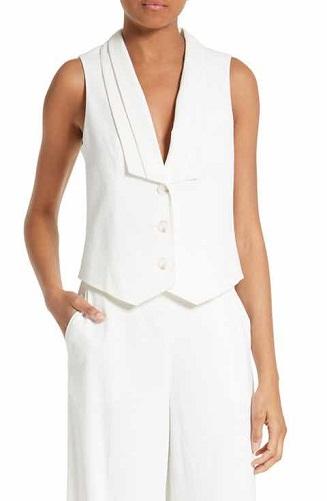 Stylish White Vest