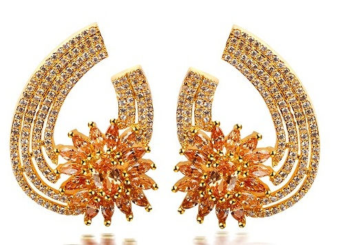 Stylish and elegant bridal earrings