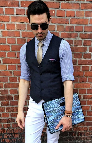 Stylish men's blue vest