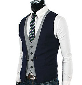 Stylish men's slim fit suit vest