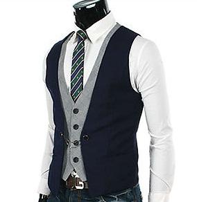 Stylish men's slim fit suit vest