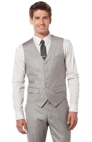 Suit style grey vest