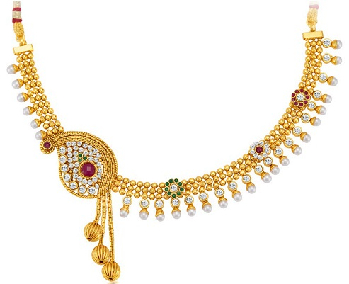 Sukkhi gold plated necklace