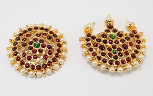 Sun and Moon Bharatanatyam Temple Jewellery