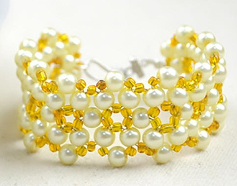 Sunshine yellow bead bracelet